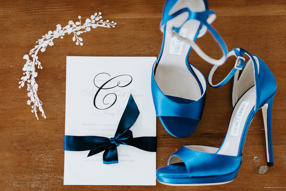 Jimmy Choo Blue hills for your wedding day