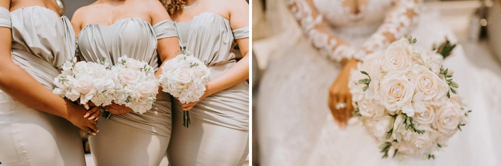 Bridesmaids bouquets at the Renaissance Hotel Allentown PA , New Jersey Wedding Photographer, Philadelphia Wedding Photographer Anais Possamai Photography