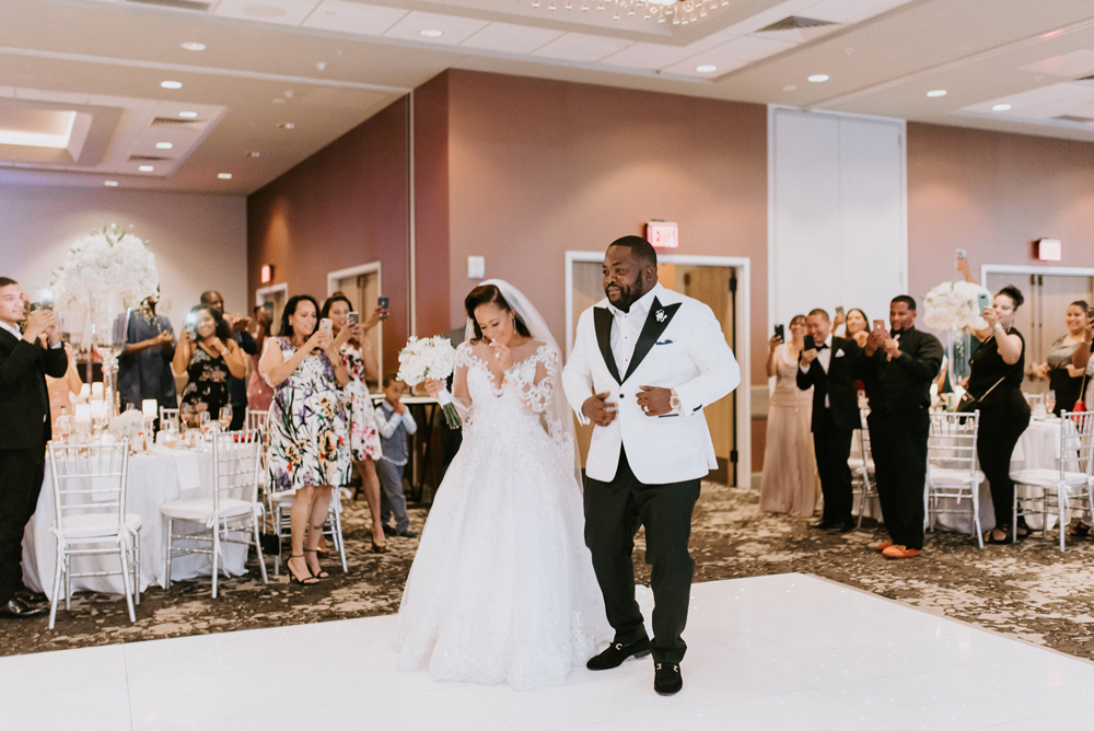 Bride and Groom Entrance at the Renaissance Hotel Allentown PA