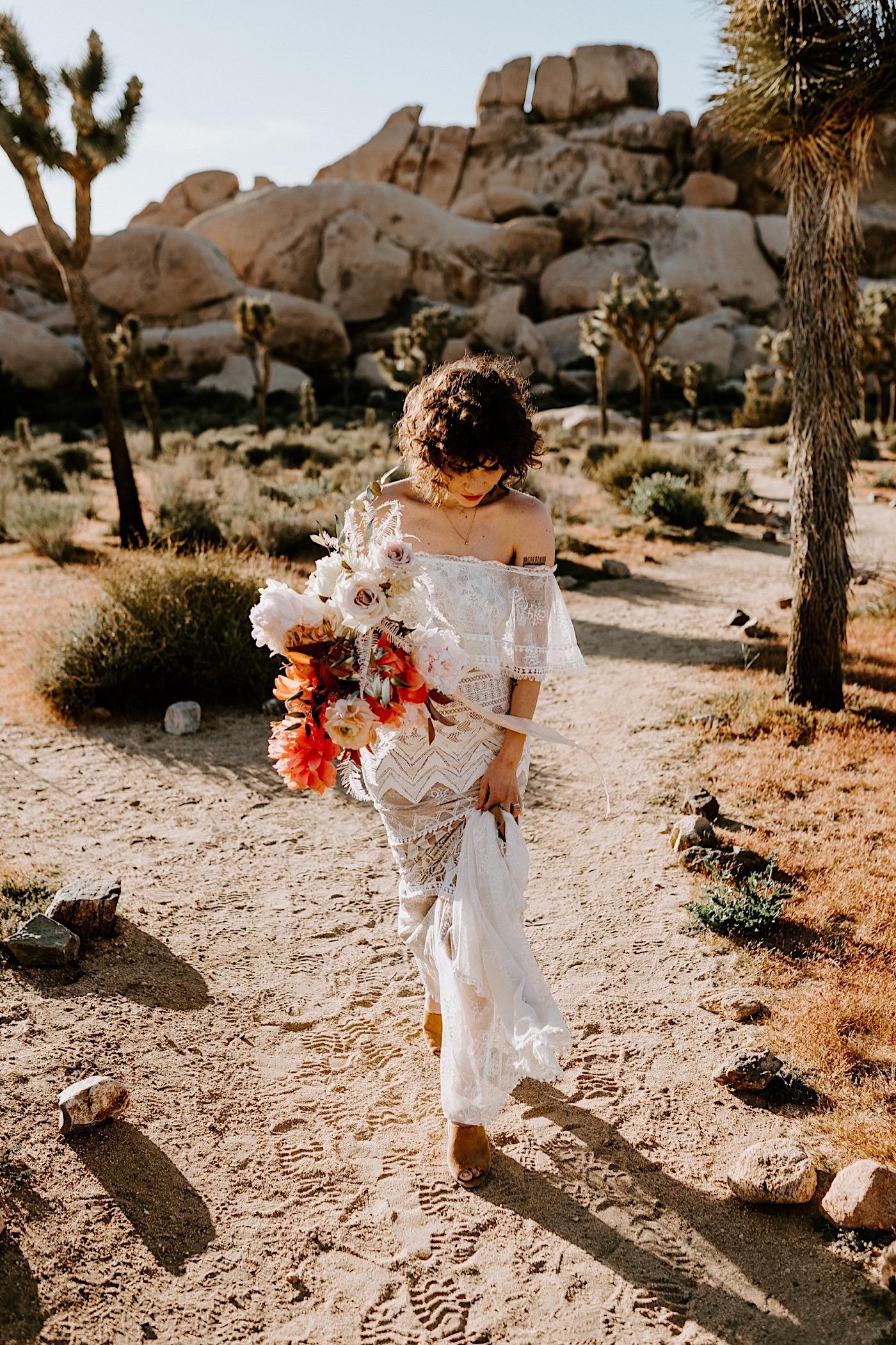 Joshua Tree Same Sex Wedding Joshua Tree Wedding Photographer Palm Springs Wedding Photographer 16