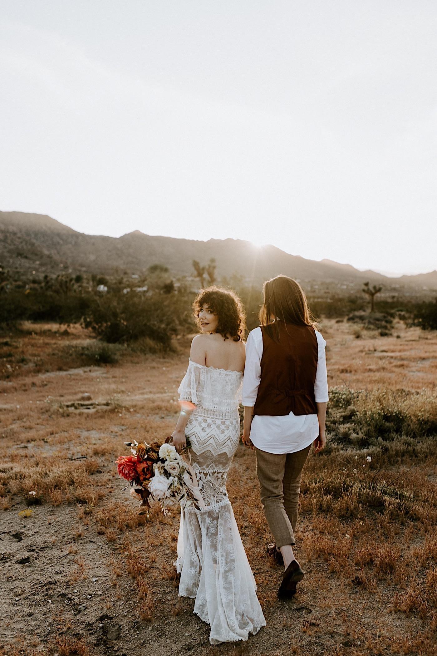 Joshua Tree Same Sex Wedding Joshua Tree Wedding Photographer Palm Springs Wedding Photographer 25