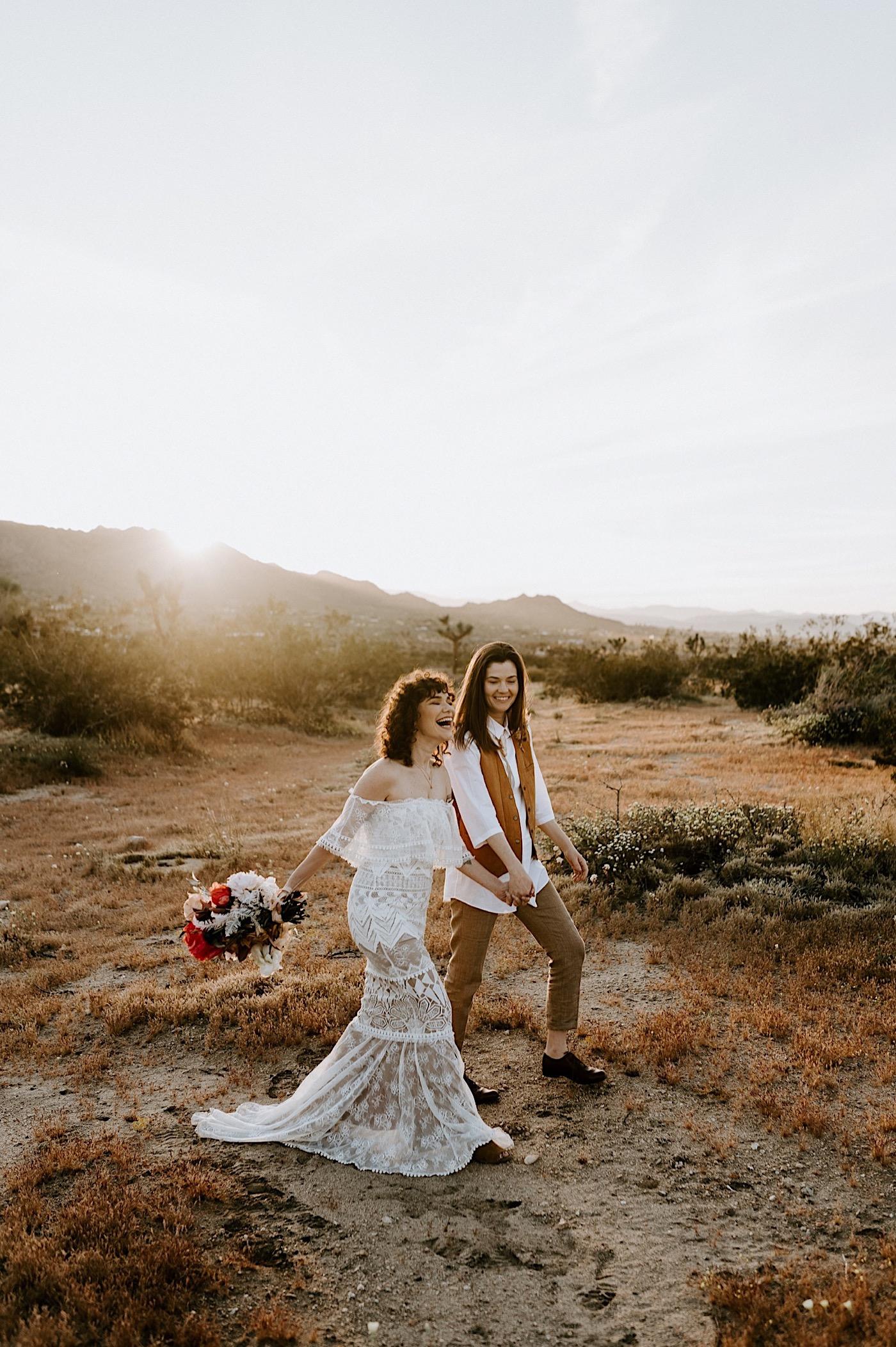 Joshua Tree Same Sex Wedding Joshua Tree Wedding Photographer Palm Springs Wedding Photographer 26