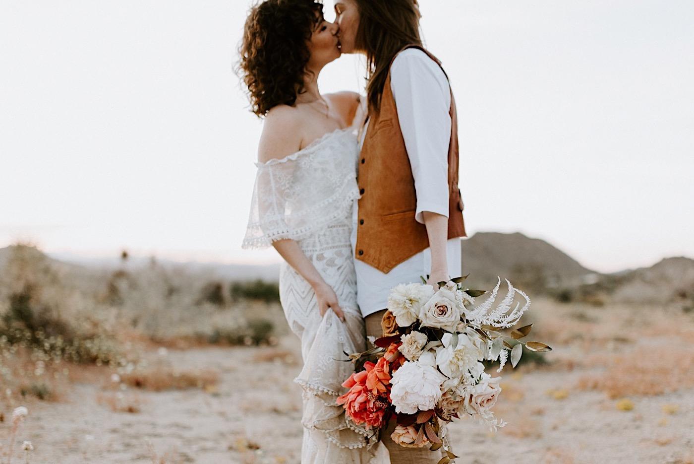Joshua Tree Same Sex Wedding Joshua Tree Wedding Photographer Palm Springs Wedding Photographer 41