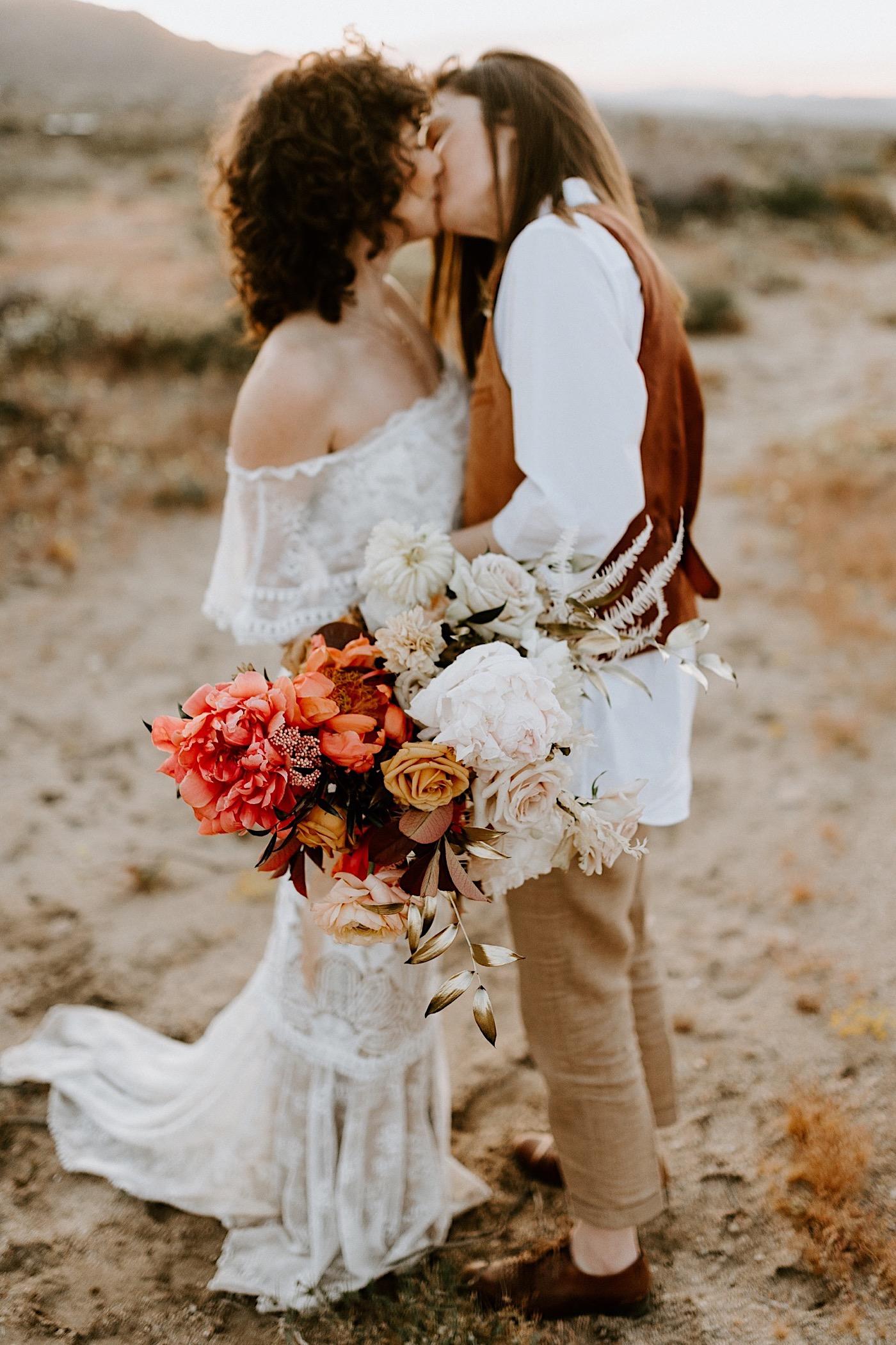 Joshua Tree Same Sex Wedding Joshua Tree Wedding Photographer Palm Springs Wedding Photographer 46