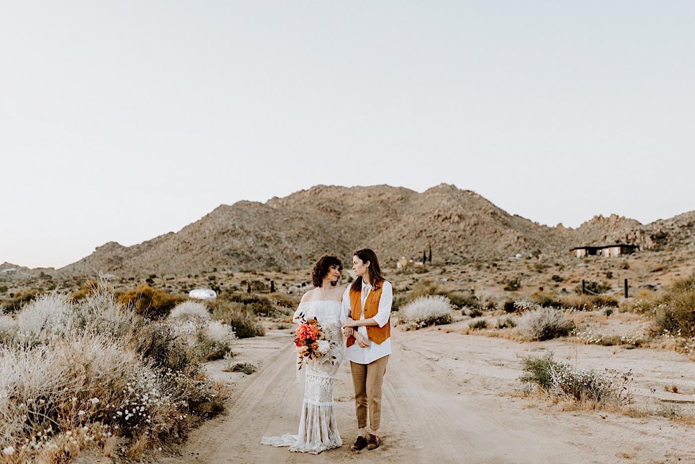 Joshua Tree Same Sex Wedding Joshua Tree Wedding Photographer Palm Springs Wedding Photographer 51