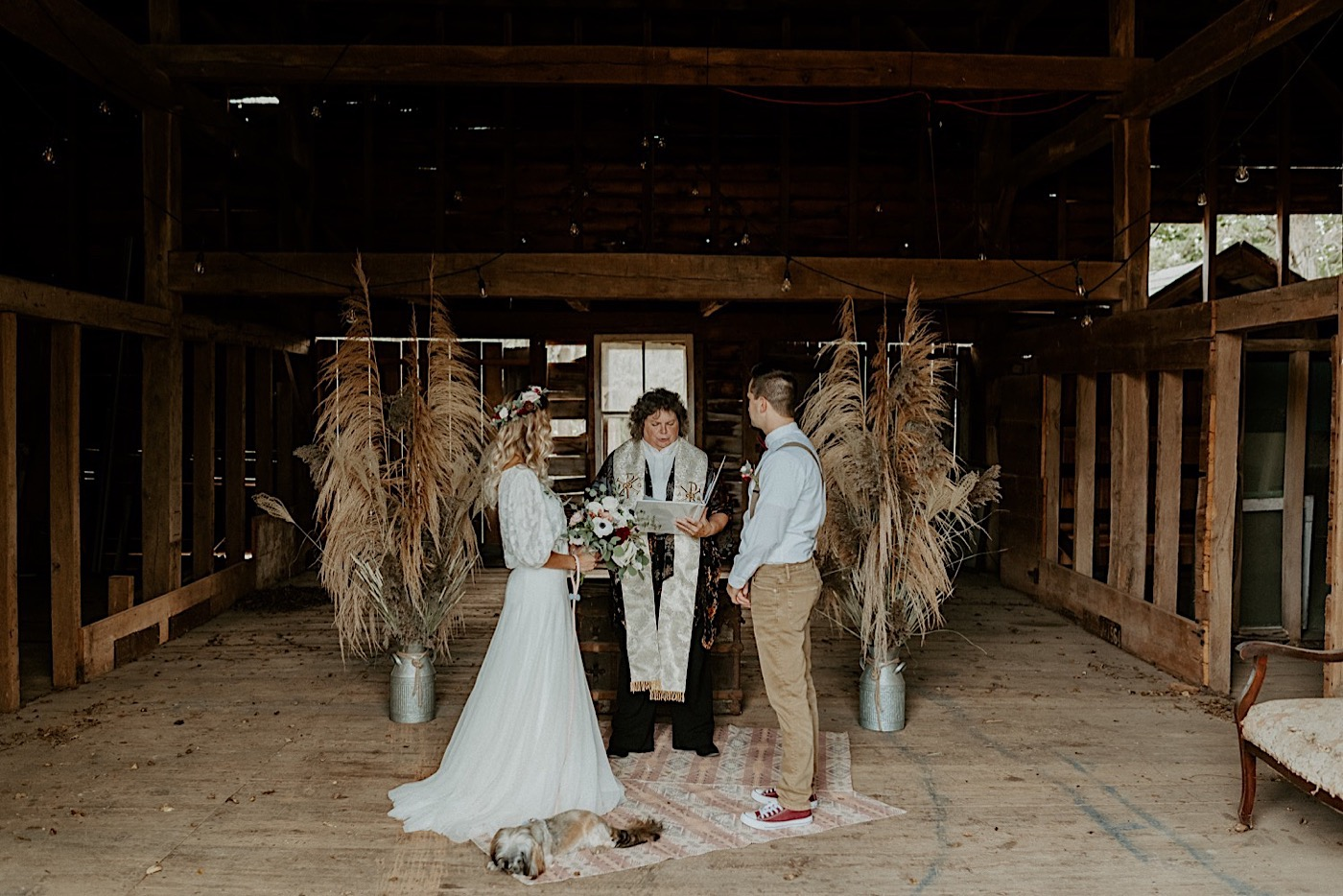 Barn Wedding New Jersey Wedding Boho Bride NJ Wedding Photographer 003