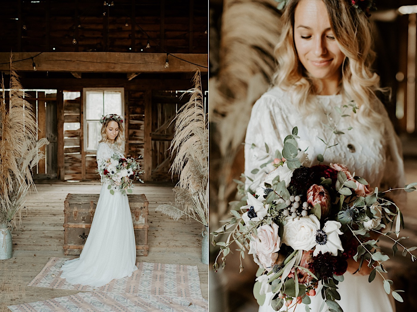 Barn Wedding New Jersey Wedding Boho Bride NJ Wedding Photographer 007