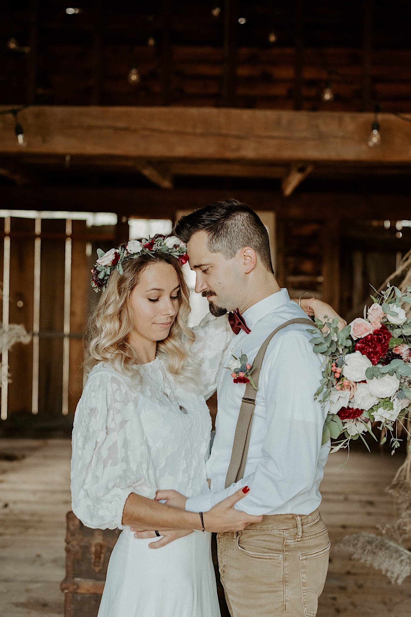 Barn Wedding New Jersey Wedding Boho Bride NJ Wedding Photographer 008