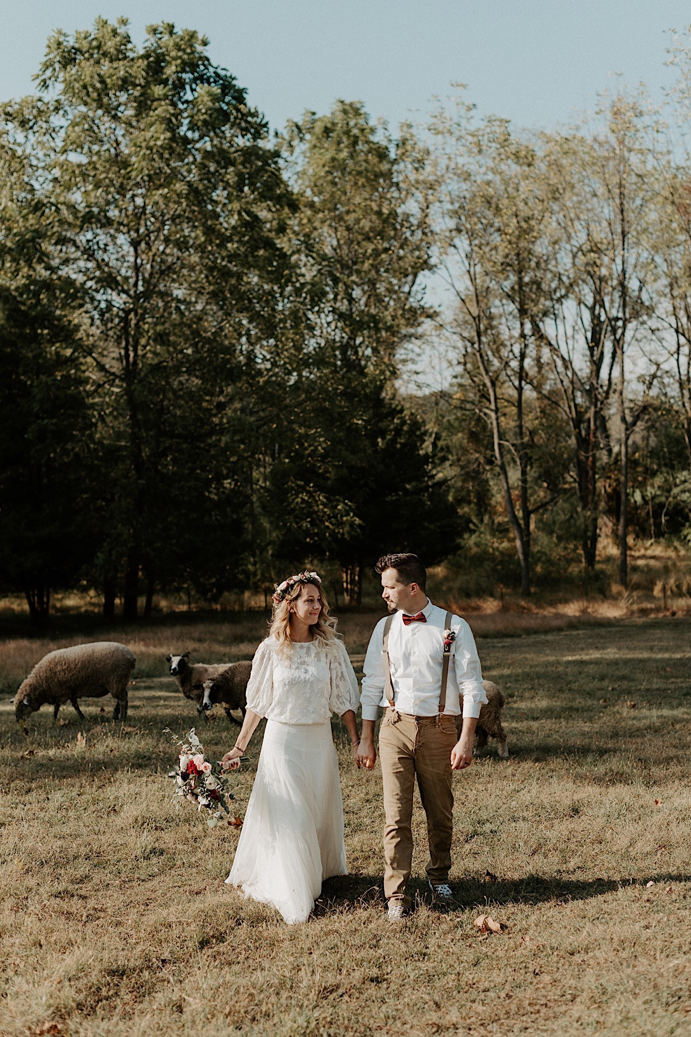 Woolverton Inn Elopement NJ Wedding Photographer Boho Wedding 019