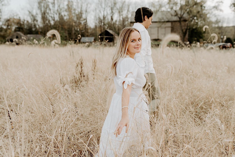 Fall Golden Field Enagement Session New Jersey Wedding Photographer 07