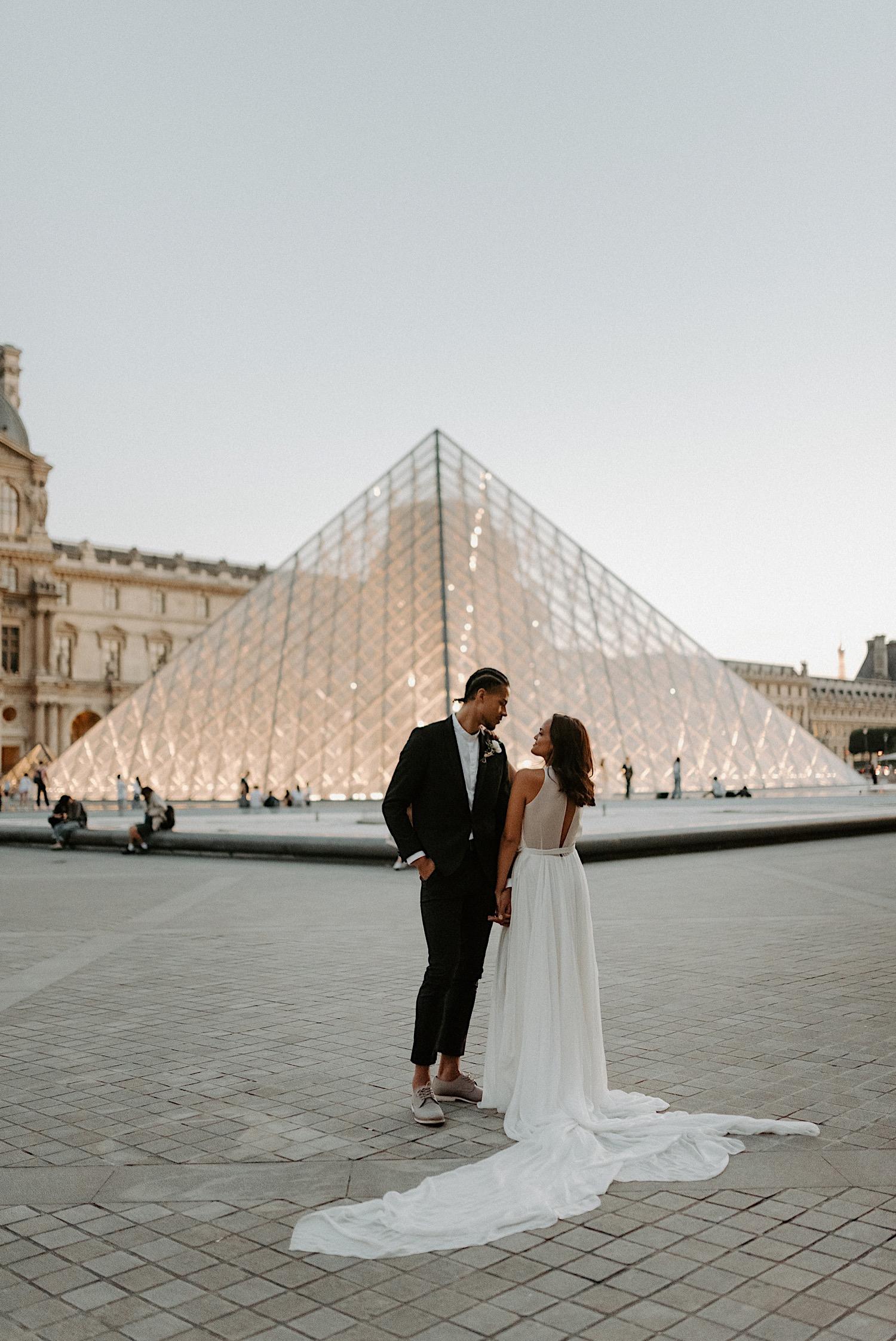 Paris Louvre Wedding Photos Paris Wedding Photographer Destination Wedding France Anais Possamai Photography 25