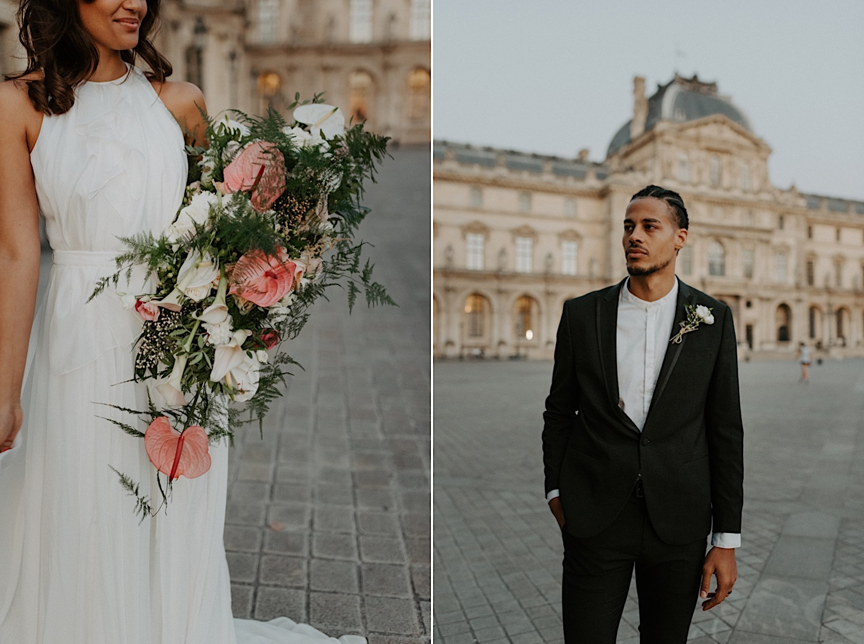 Paris Louvre Wedding Photos Paris Wedding Photographer Destination Wedding France Anais Possamai Photography 35
