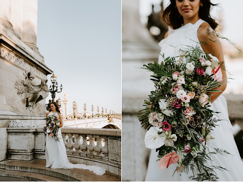 Paris Wedding Photos Paris Wedding Photographer Paris Photographe De Marriage Pont Alexandre Wedding Photos Anais Possamai Photography 24