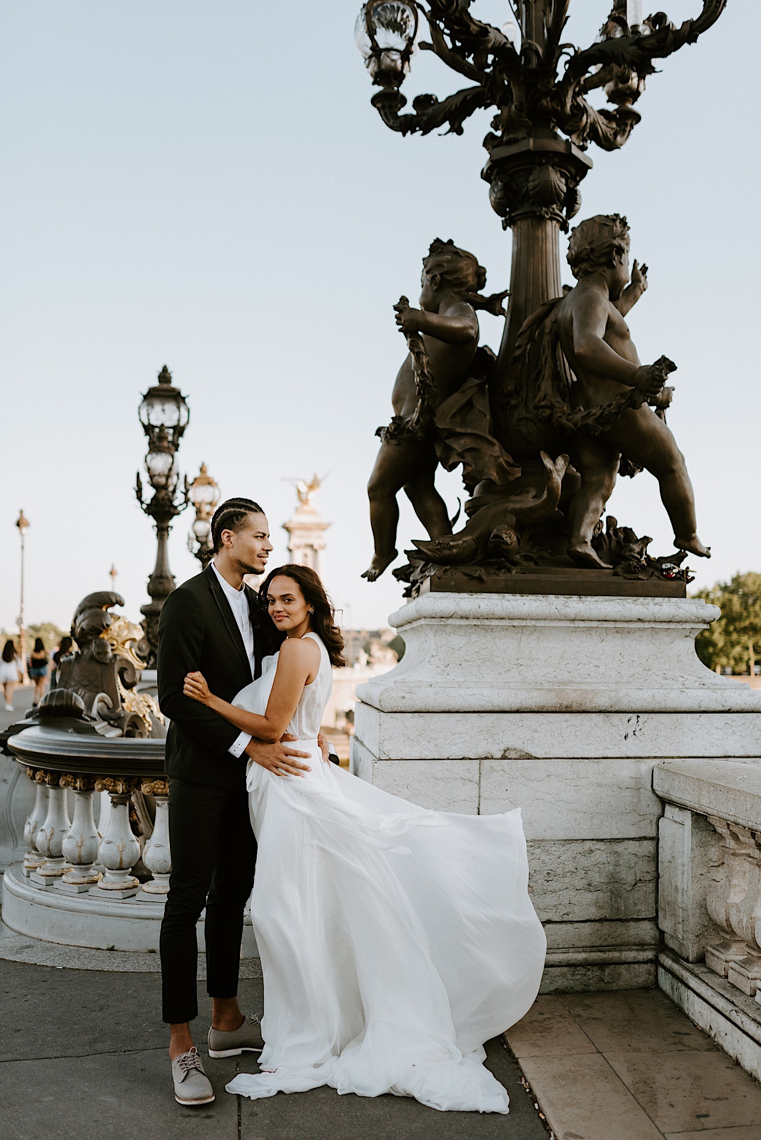 Paris Wedding Photos Paris Wedding Photographer Paris Photographe De Marriage Pont Alexandre Wedding Photos Anais Possamai Photography 25