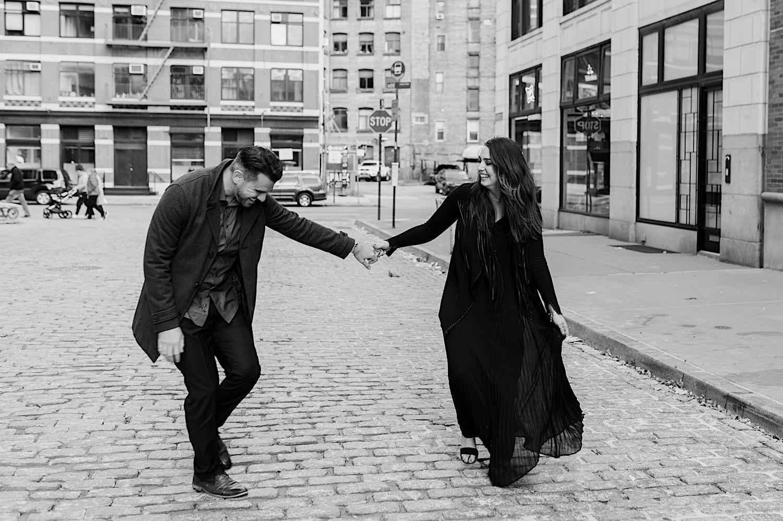 Tribeca Engagement Session NYC Engagement Photos New York Wedding Photographer 09