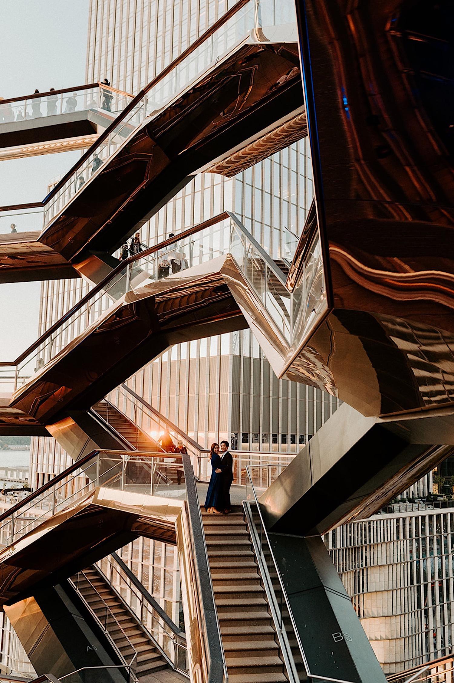 071 The High Line Engagement Photos The Vessel Enagement Photos New York City Wedding Photographer