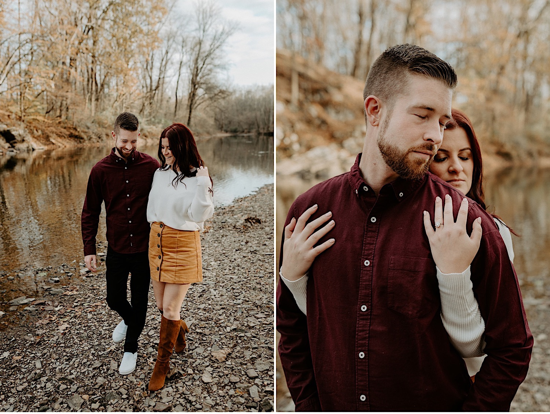 096 Tyler State Park Engagement Photos Philadelphia Wedding Photographer Pennsylvania Wedding Photographer Outdoor Engagement Photos Fall Engagement Photos