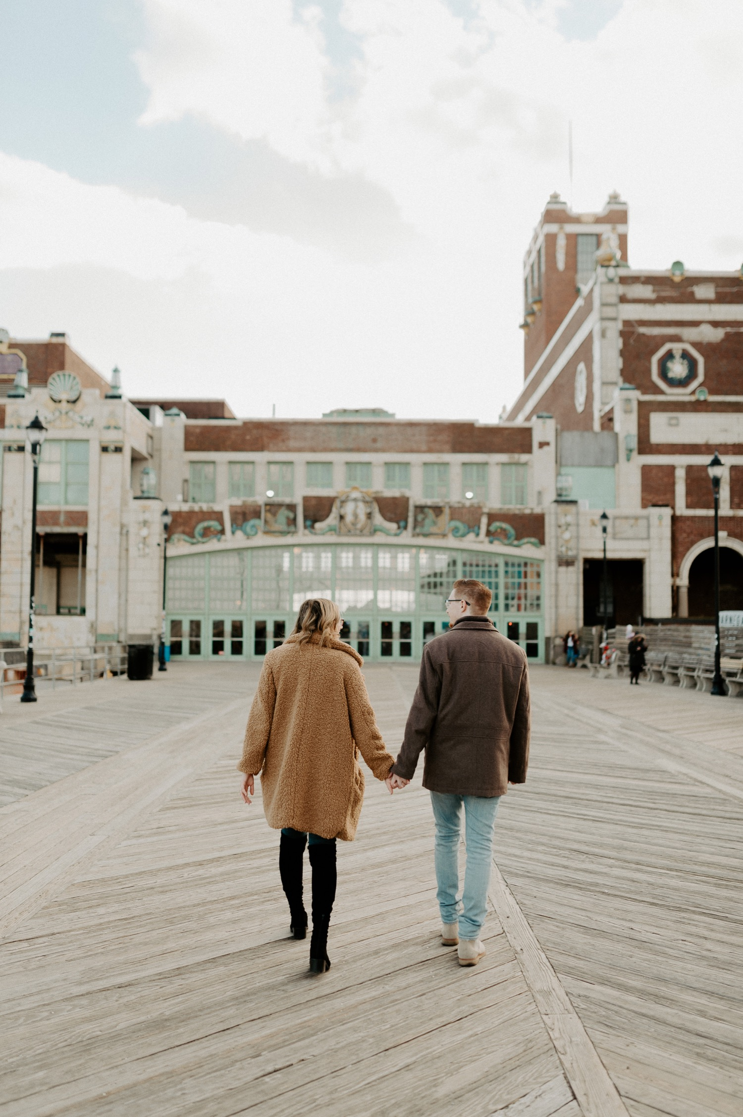 Asbury Park Engagement Photos Winter Beach Engagement Session New Jersey Wedding Photographer Anais Possamai Photography 001
