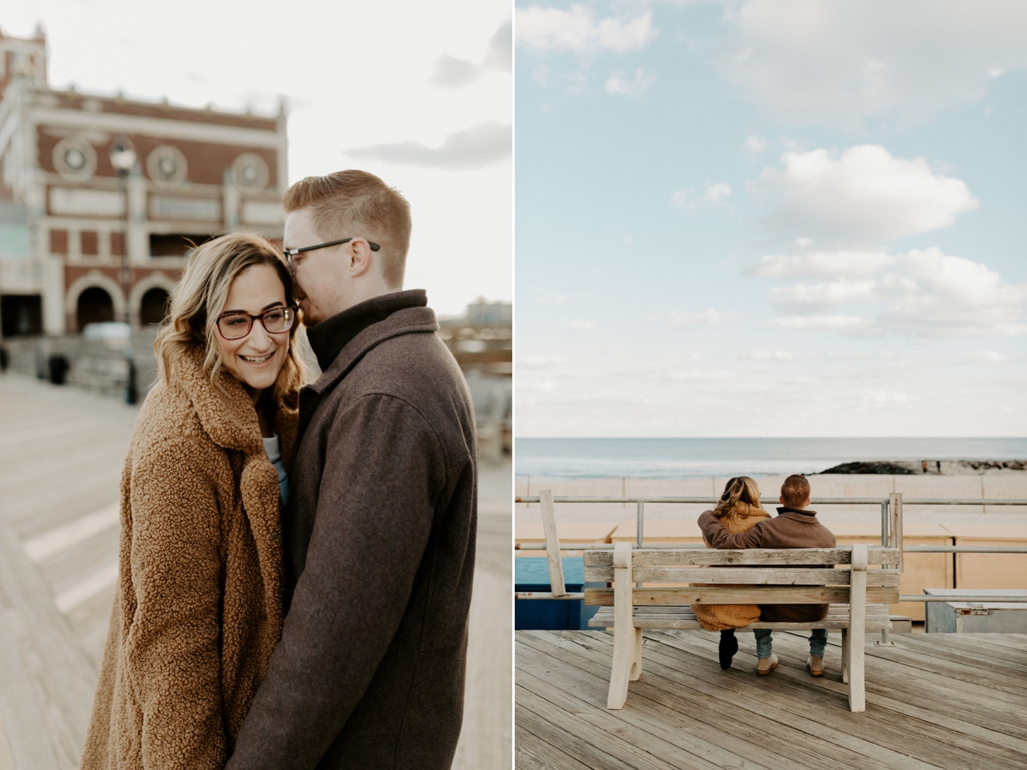 Asbury Park Engagement Photos Winter Beach Engagement Session New Jersey Wedding Photographer Anais Possamai Photography 004
