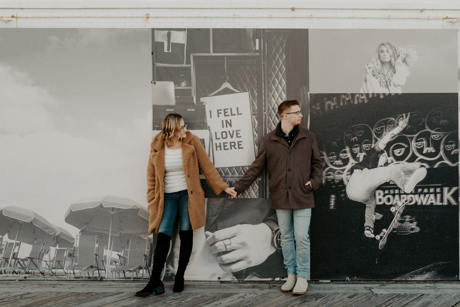 Asbury Park Engagement Photos Winter Beach Engagement Session New Jersey Wedding Photographer Anais Possamai Photography 015
