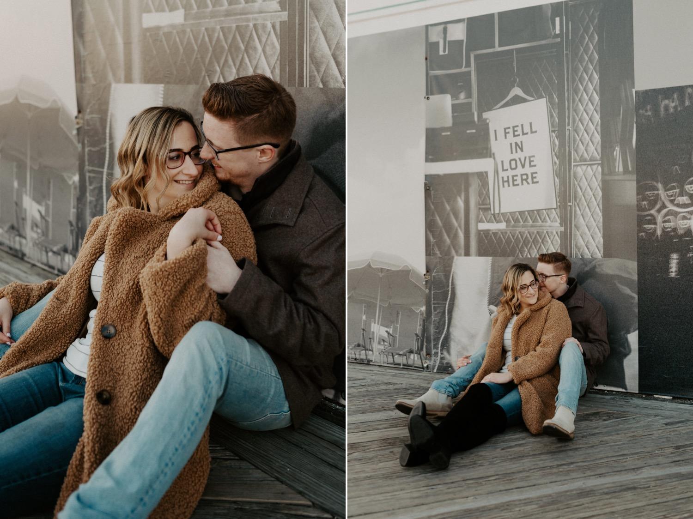 Asbury Park Engagement Photos Winter Beach Engagement Session New Jersey Wedding Photographer Anais Possamai Photography 018