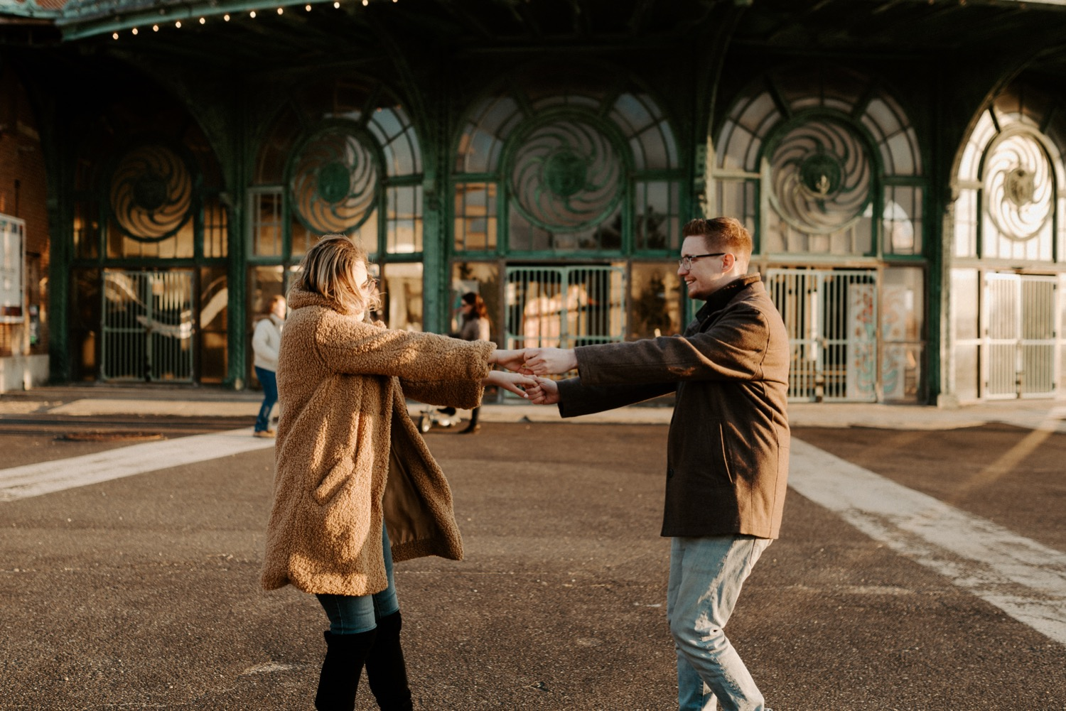 Asbury Park Engagement Photos Winter Beach Engagement Session New Jersey Wedding Photographer Anais Possamai Photography 020