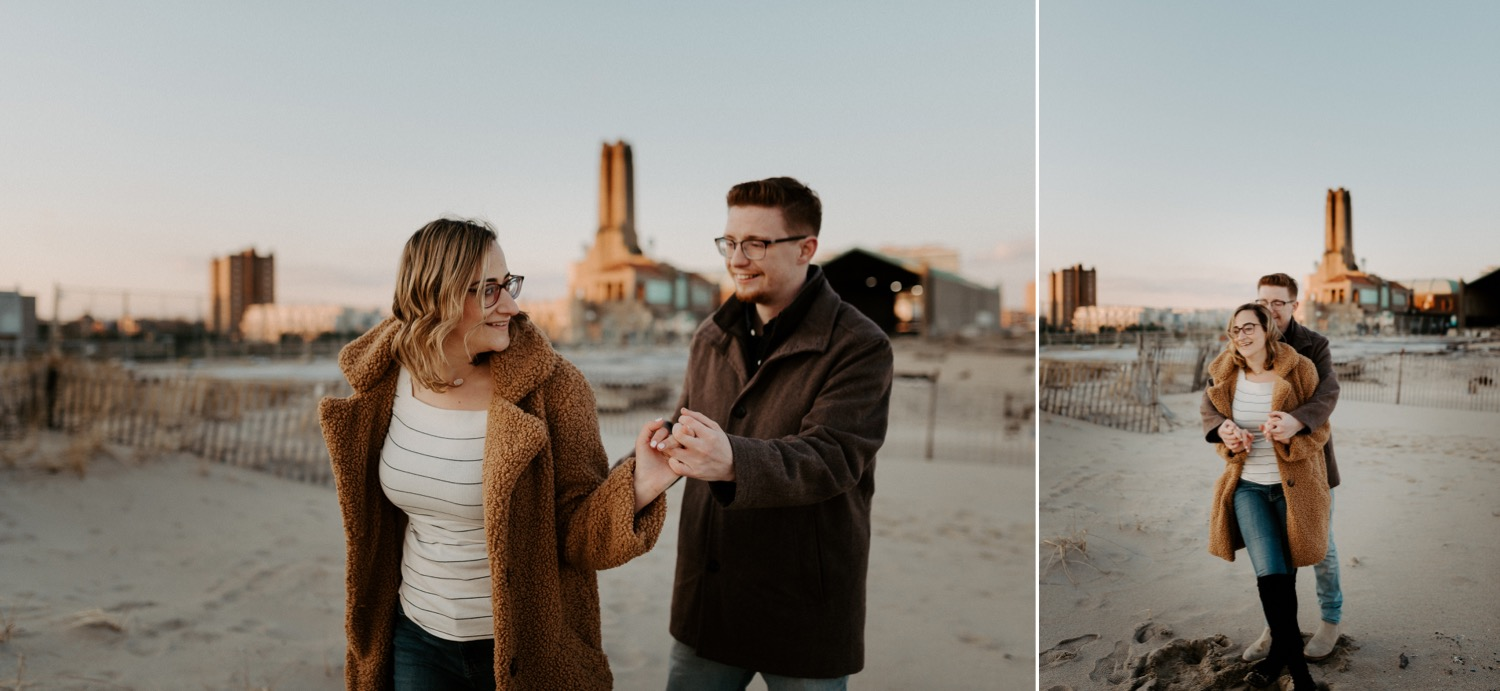 Asbury Park Engagement Photos Winter Beach Engagement Session New Jersey Wedding Photographer Anais Possamai Photography 033