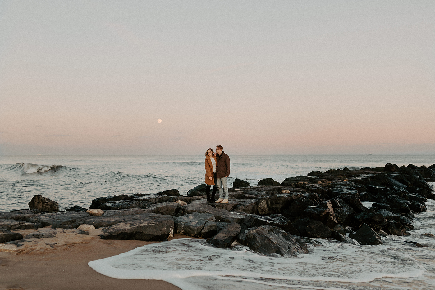 Asbury Park NJ Engagement Photos Winter Beach Engagement Session New Jersey Wedding Photographer Anais Possamai Photography 282