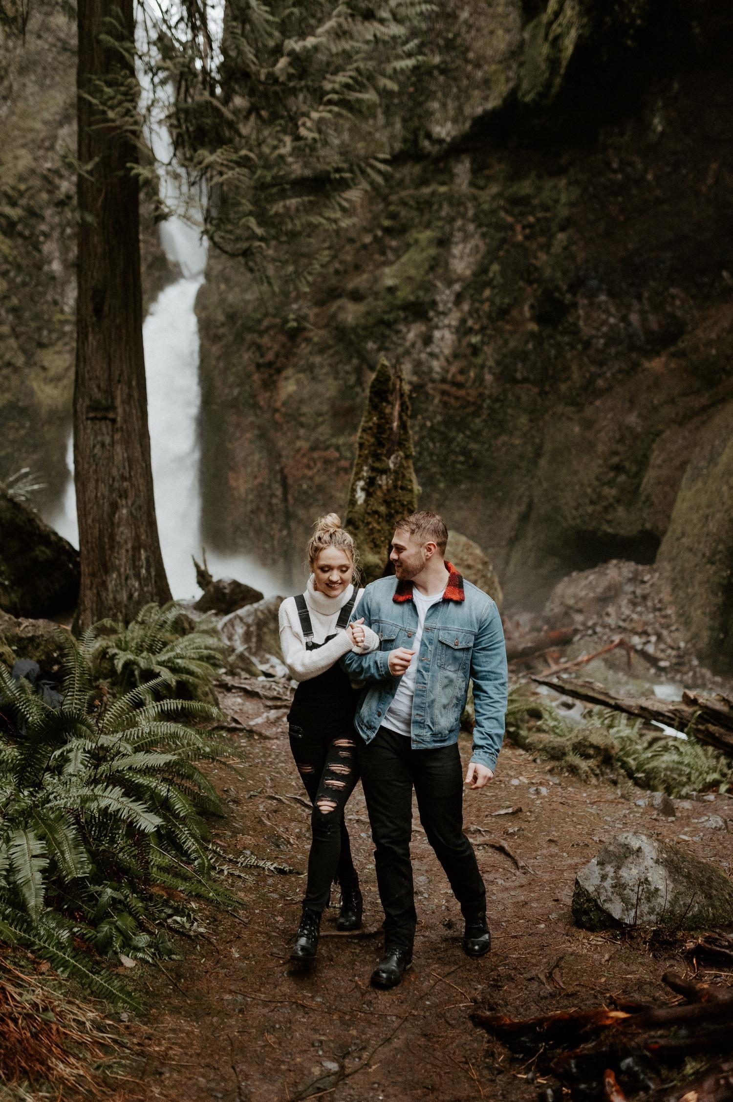 Wahclella Falls Engagement Session Columbia River Gorge Oregon Portland Wedding Photographer PNW Elopement Photographer Bend Wedding Photographer Anais Possamai Photography 047