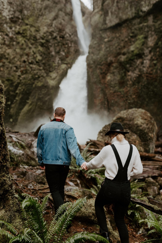 Wahclella Falls Engagement Session Columbia River Gorge Oregon Portland Wedding Photographer Anais Possamai Photography 002