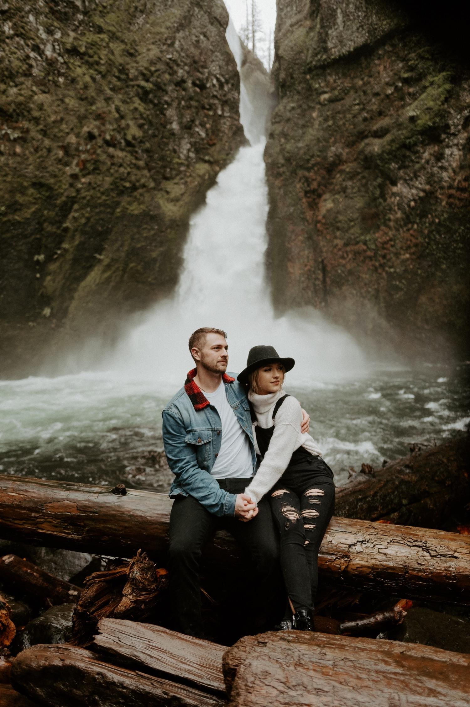 Wahclella Falls Engagement Session Columbia River Gorge Oregon Portland Wedding Photographer Anais Possamai Photography 006