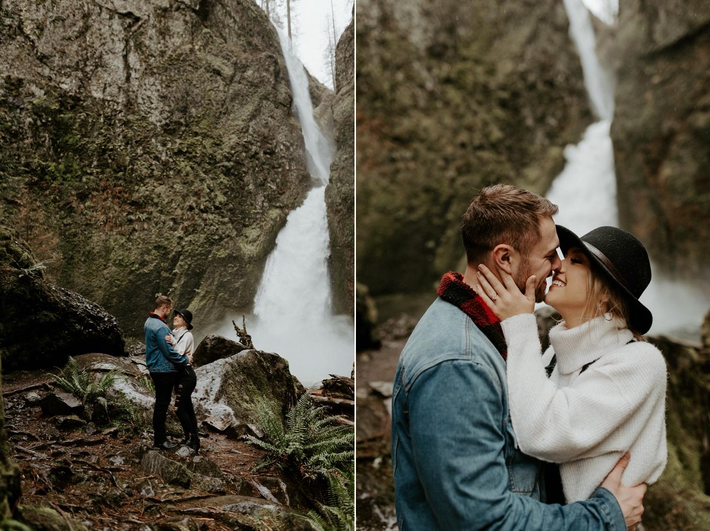Wahclella Falls Engagement Session Columbia River Gorge Oregon Portland Wedding Photographer Anais Possamai Photography 017
