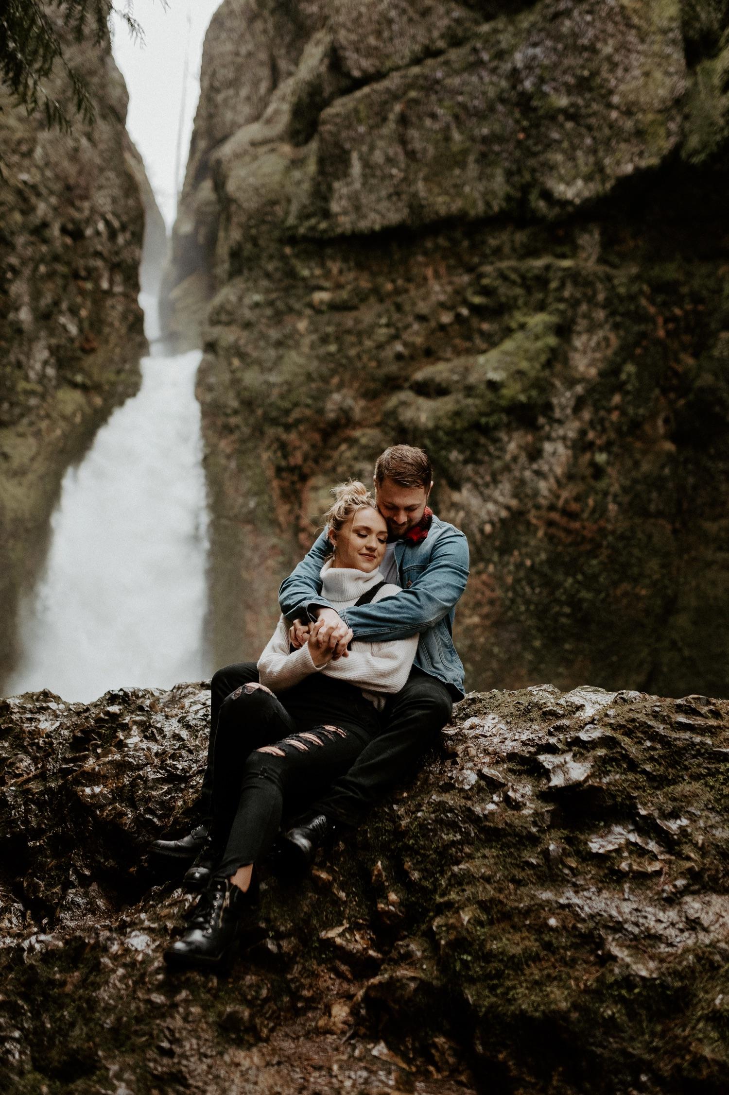 Wahclella Falls Engagement Session Columbia River Gorge Oregon Portland Wedding Photographer Anais Possamai Photography 029